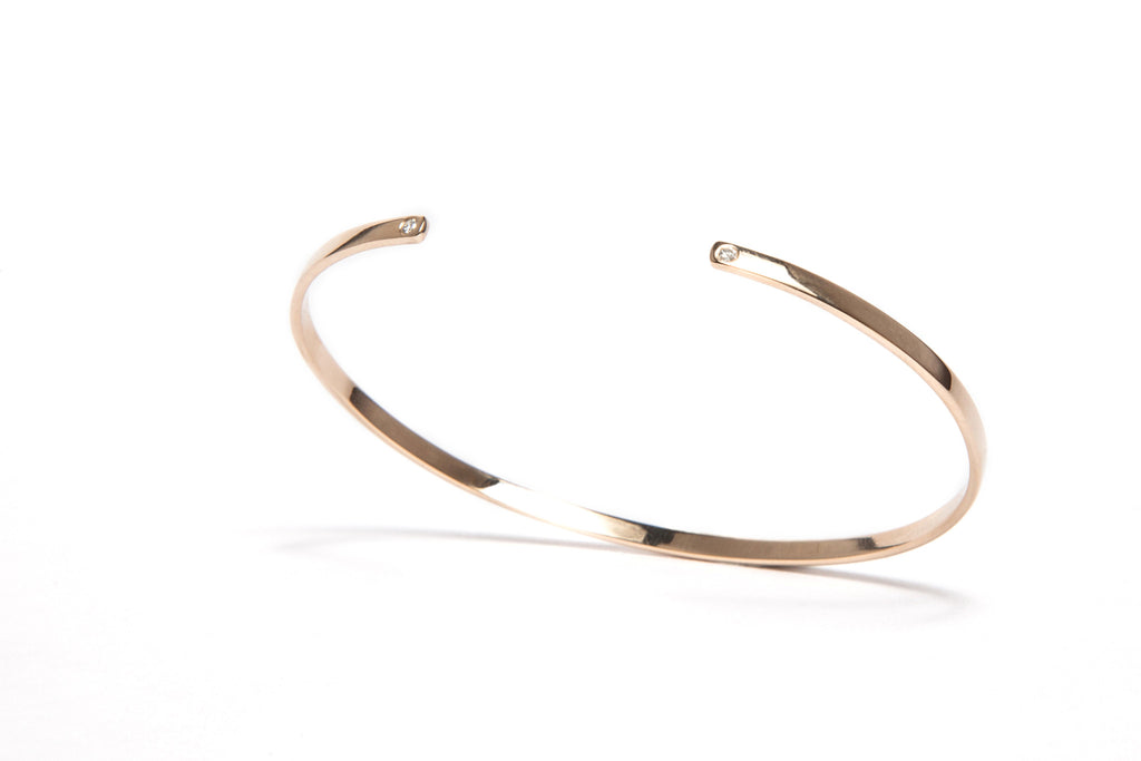 White Diamond Gold Cuff