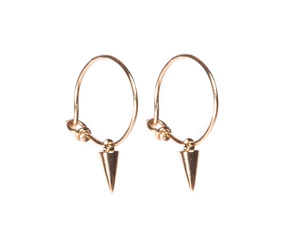 Gold Tiny Tusk Hoop Earrings
