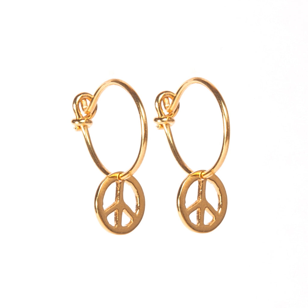 Peace Hoop Earrings
