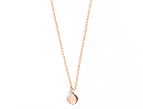 Tiny Gold Disc Necklace