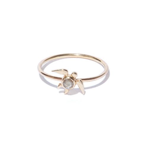 Diamond Turtle Ring