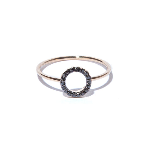 Black Diamond Degree Ring
