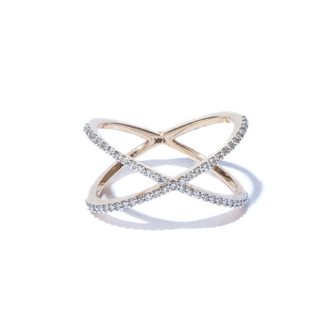 X Diamond Ring