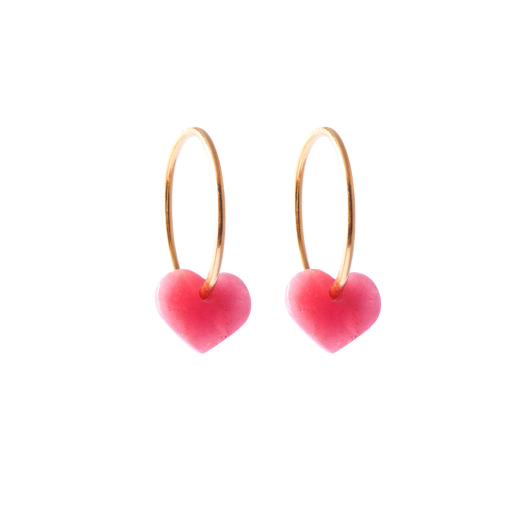 Rhodalite Heart Earrings