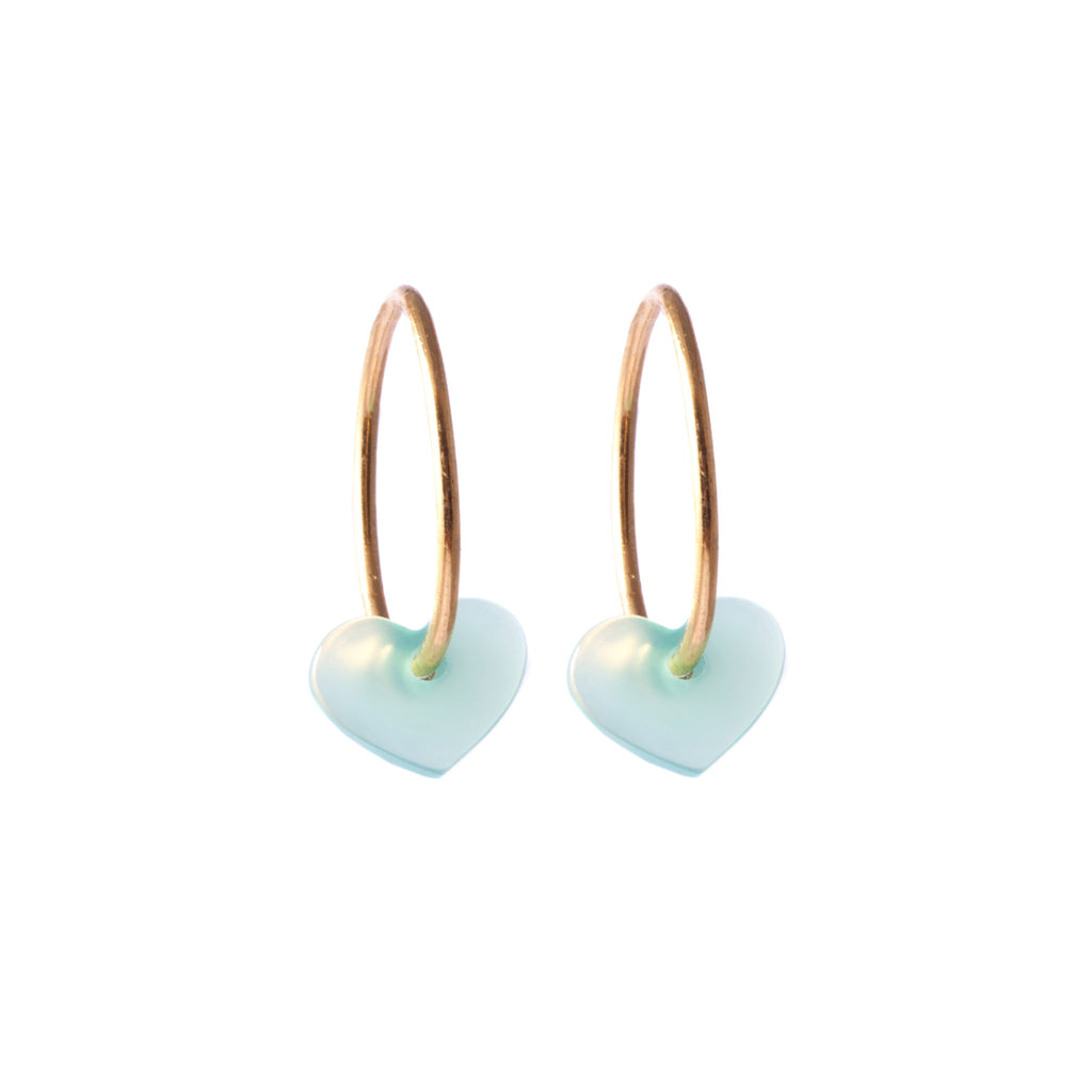 Chrysoprase Heart Earrings