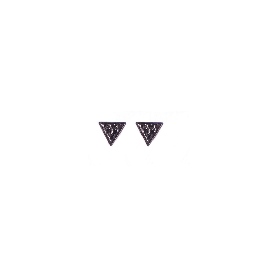 Triangle Black Diamond Studs