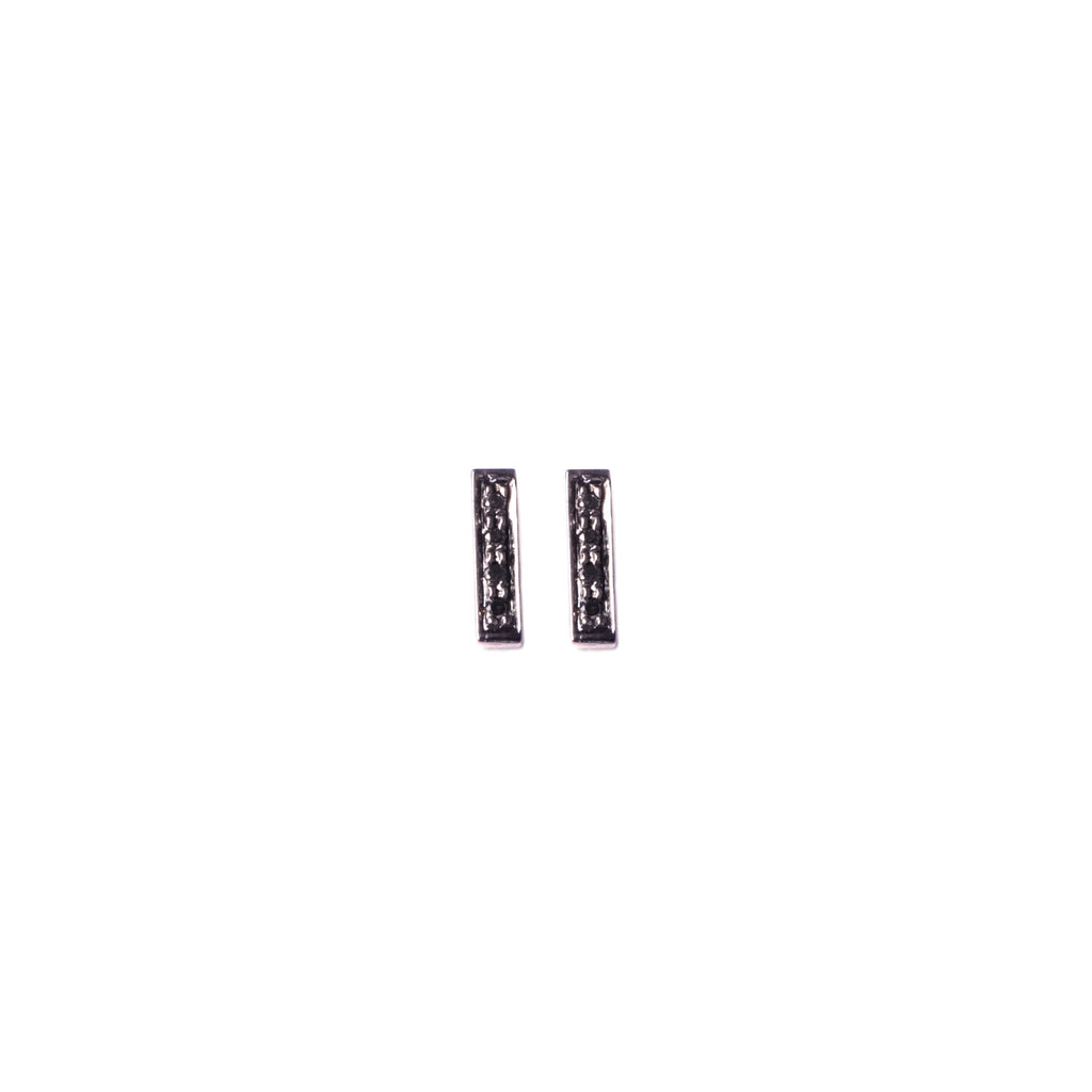 Black Diamond Rectangle Studs
