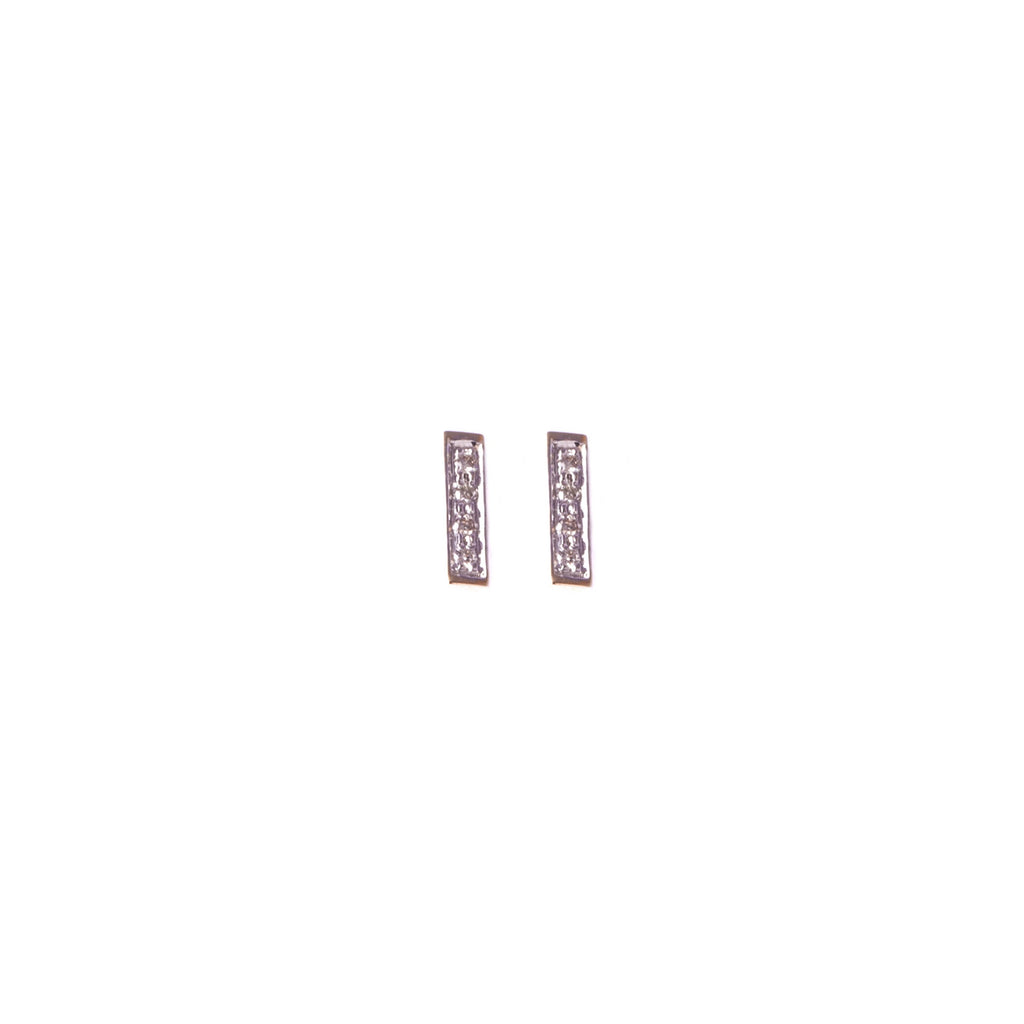 Diamond Rectangle Studs
