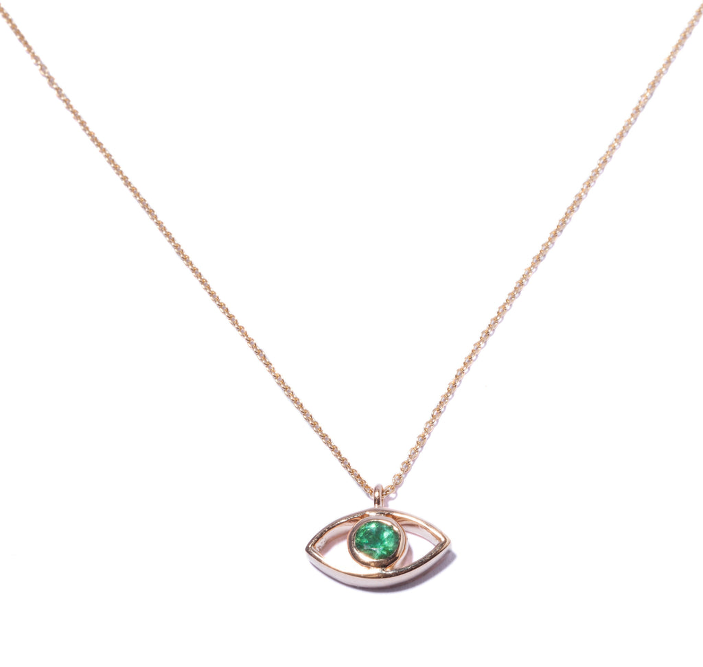 Third Eye Emerald Necklace