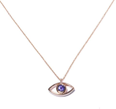 Gold Third Eye Tanzanite Necklace