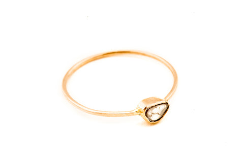 Gold Polki Diamond Ring