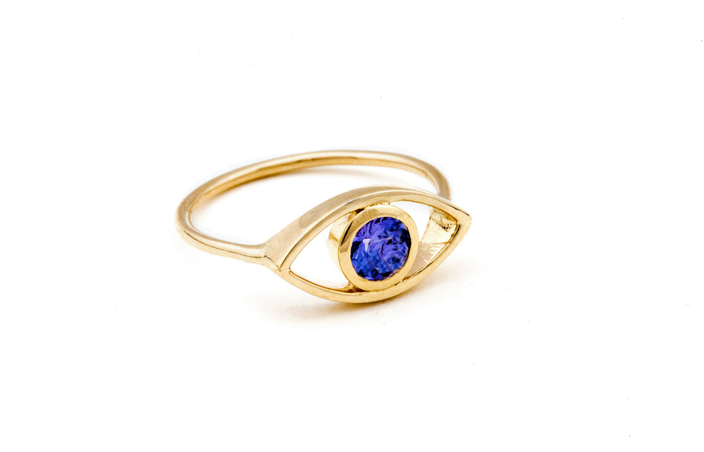 Gold Third Eye Tanzanite Ring