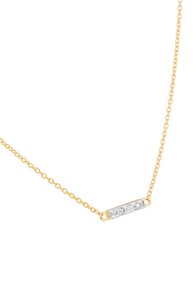 Diamond Rectangle Choker Necklace