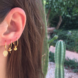 Shark's Tooth Hoop Earrings