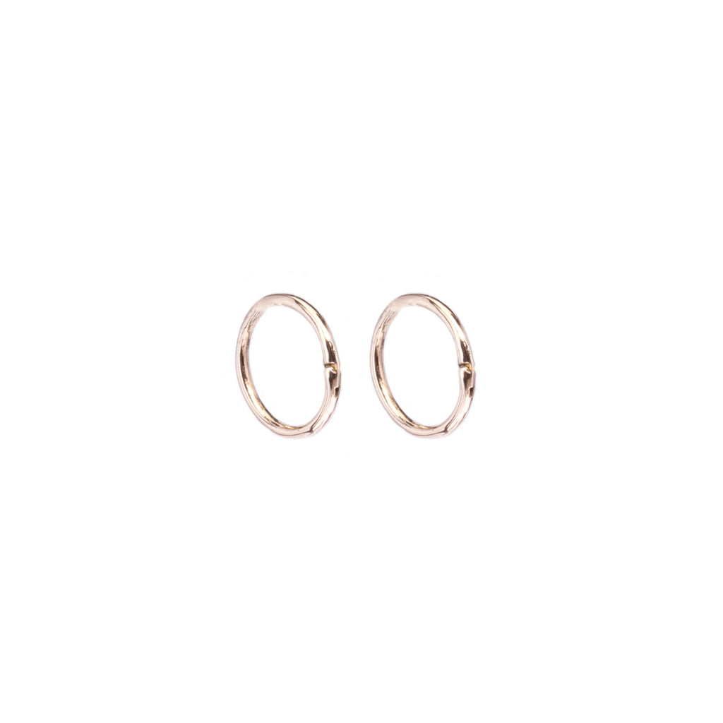 Tiny Pandora Gold Hoop Earrings