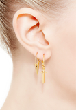 Sword Hoop Earrings in Gold Vermeil