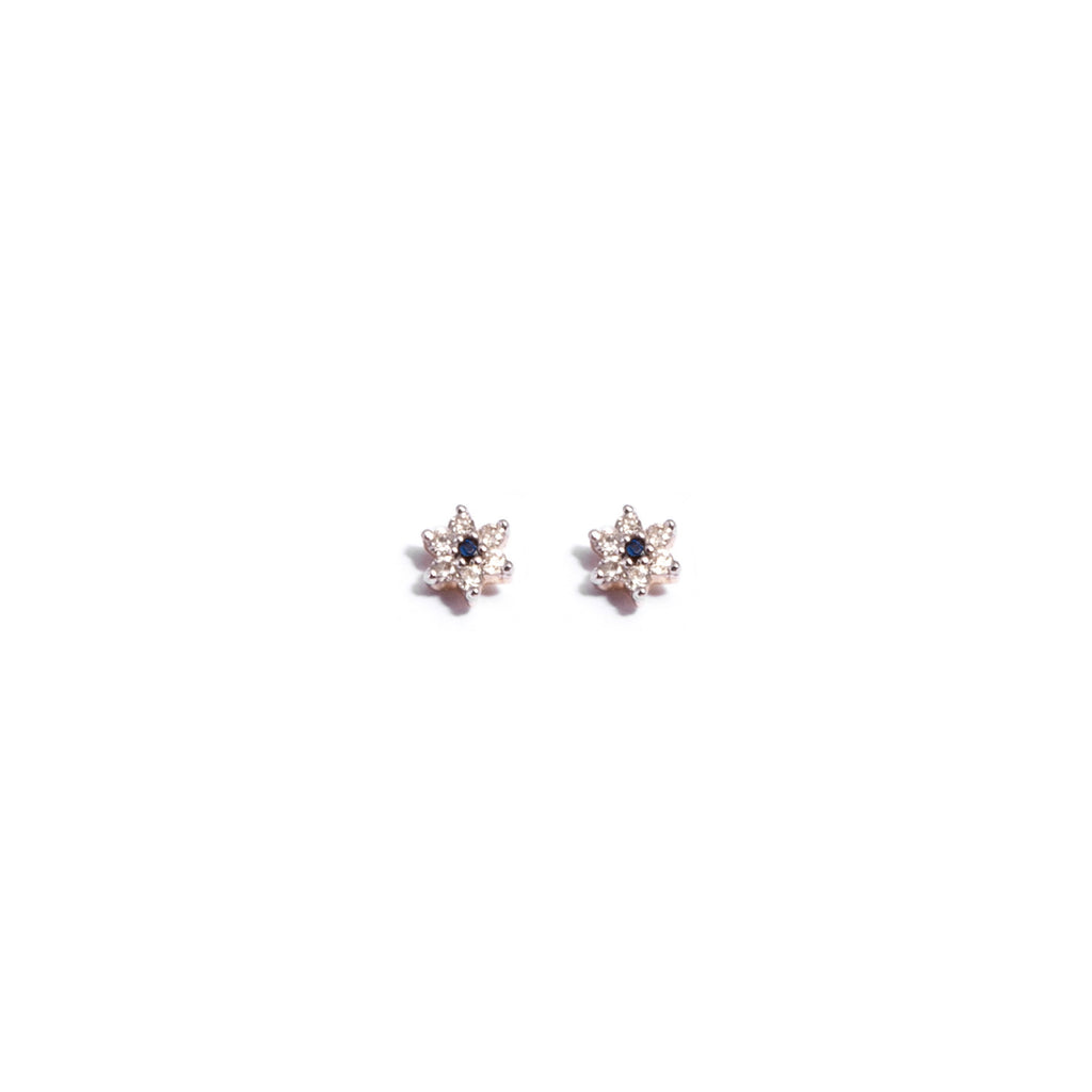 Diamond Flower Star Studs