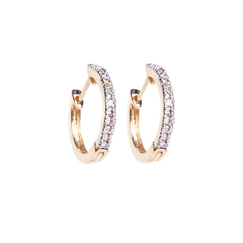 Diamond Half Hoop Earrings