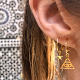 The Eye of Ra Hoop Earrings
