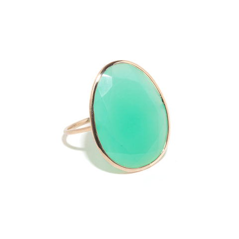 Extra Large Chrysoprase Cocktail Ring