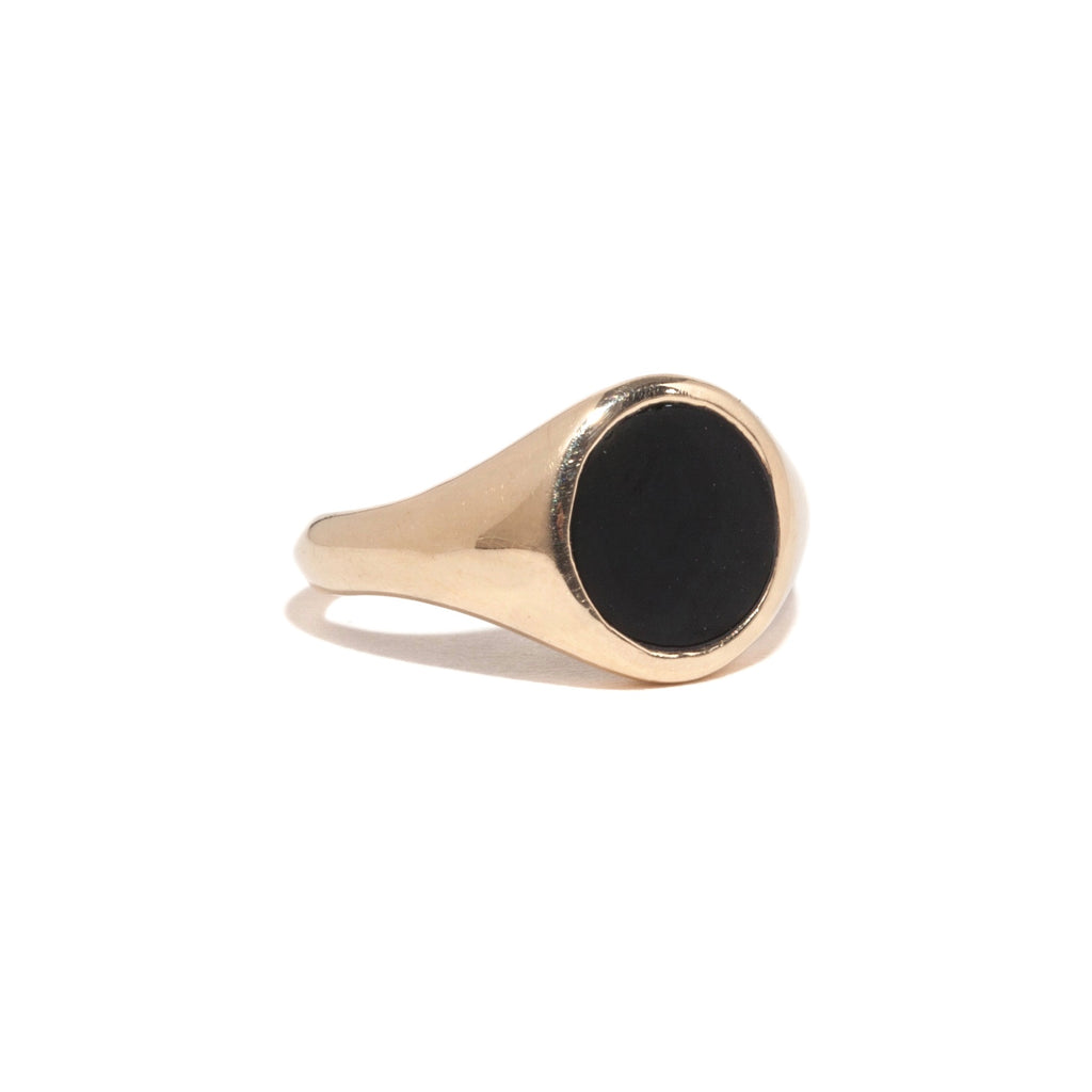 Black Onyx Signet Ring
