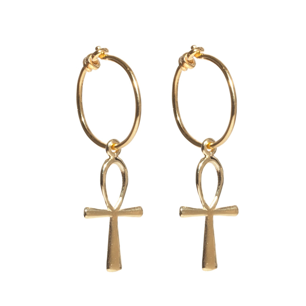 Ankh Hoop Earrings