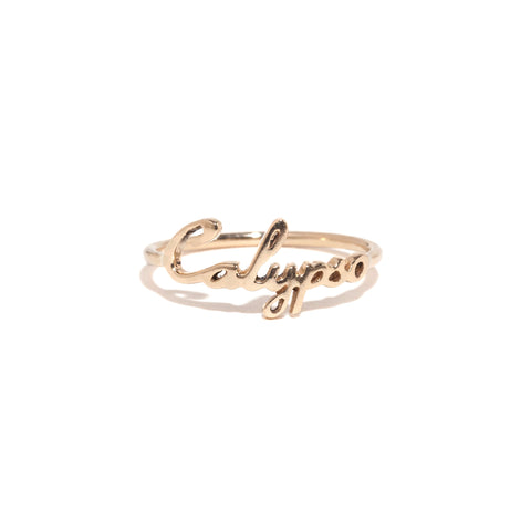 Bespoke Name Ring