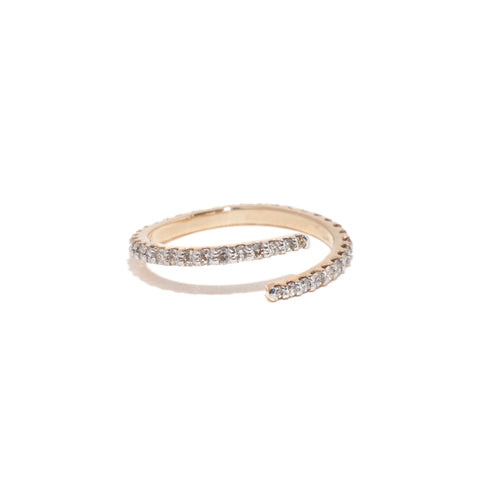 Zig Zag Diamond Band