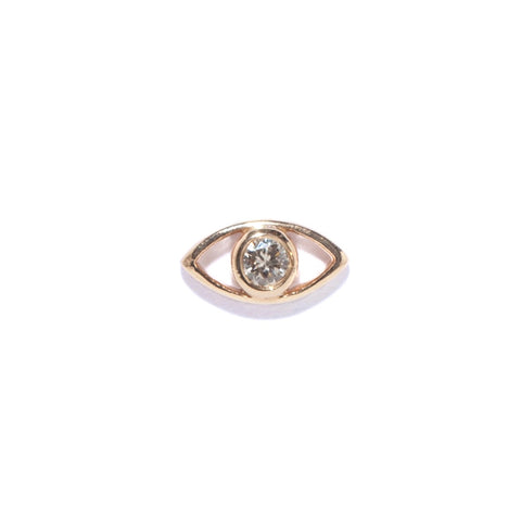 Evil Eye Diamond Stud