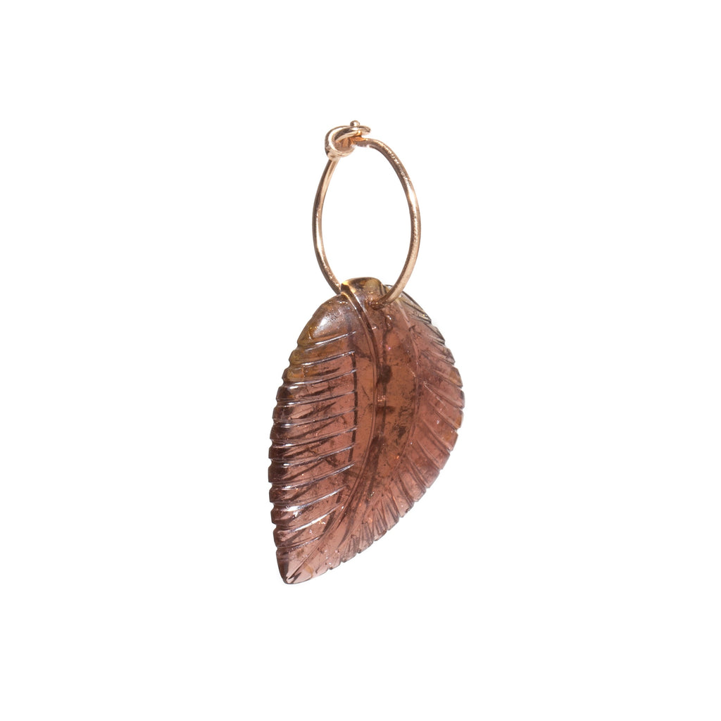 Large Tourmaline Leaf Earring