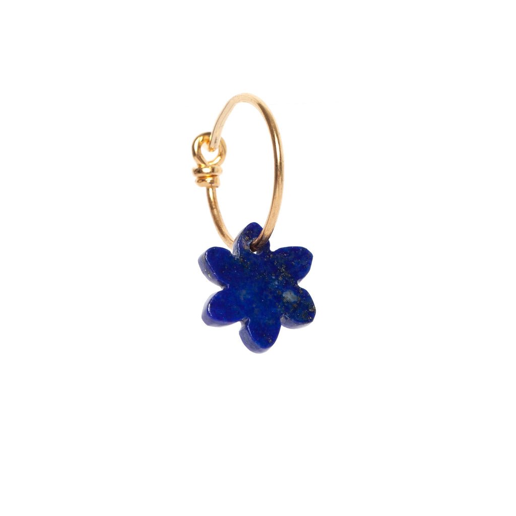 Lapis Flower Earring