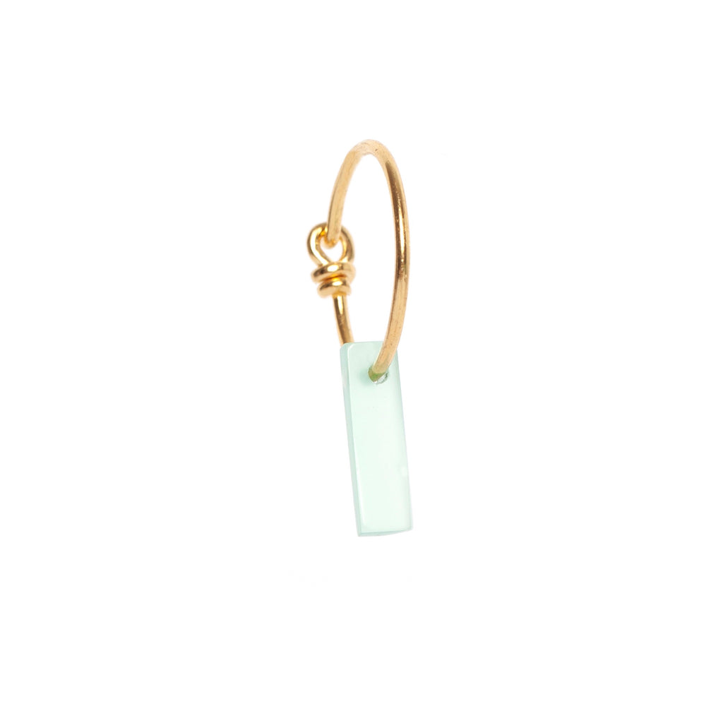 Green Onyx Rectangle Earring