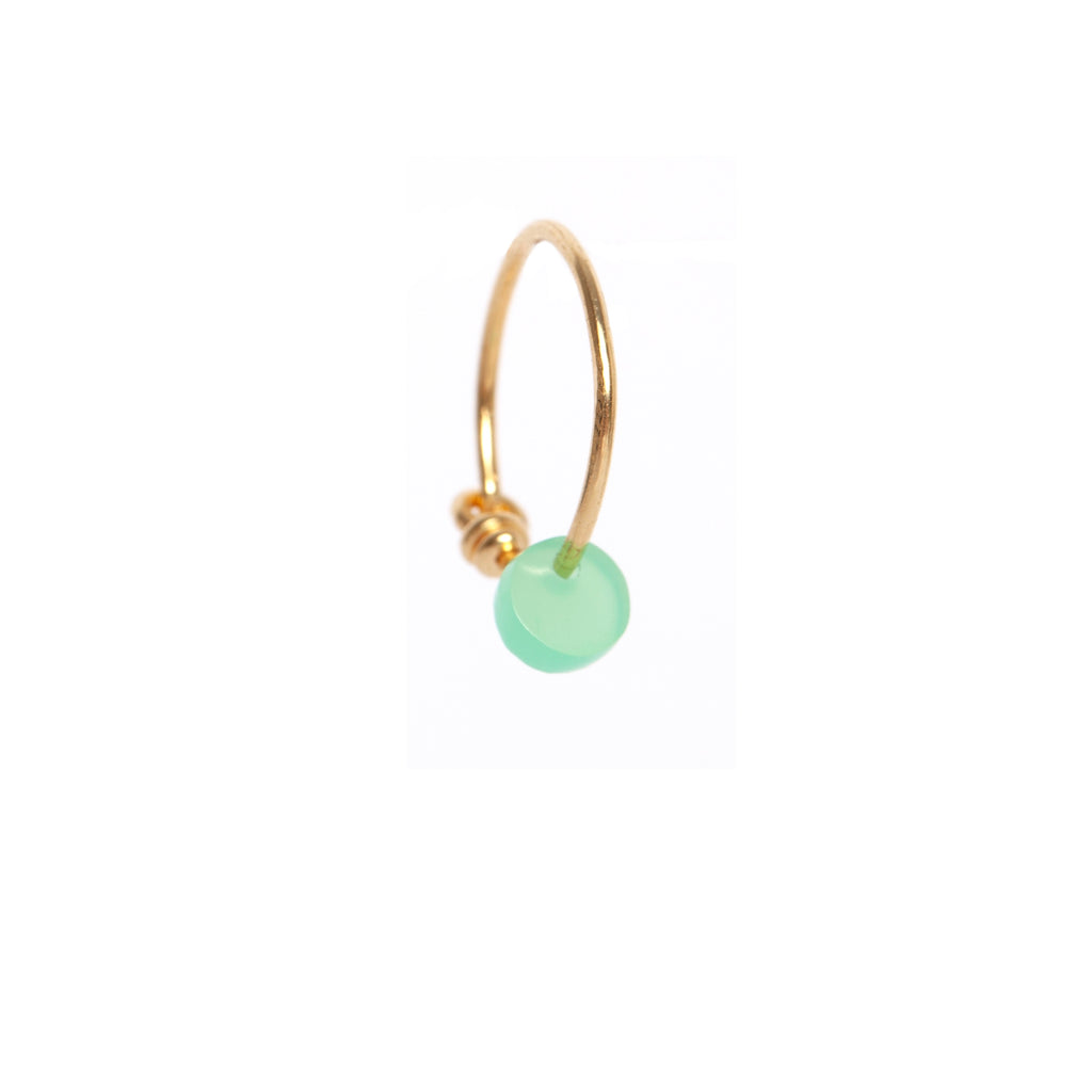 Green Onyx Circle Earring