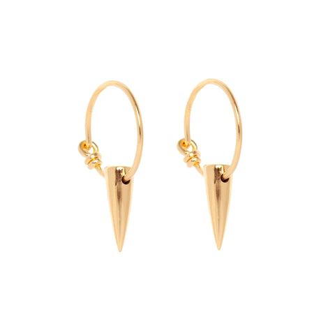 Tusk Gold Hoop Earrings