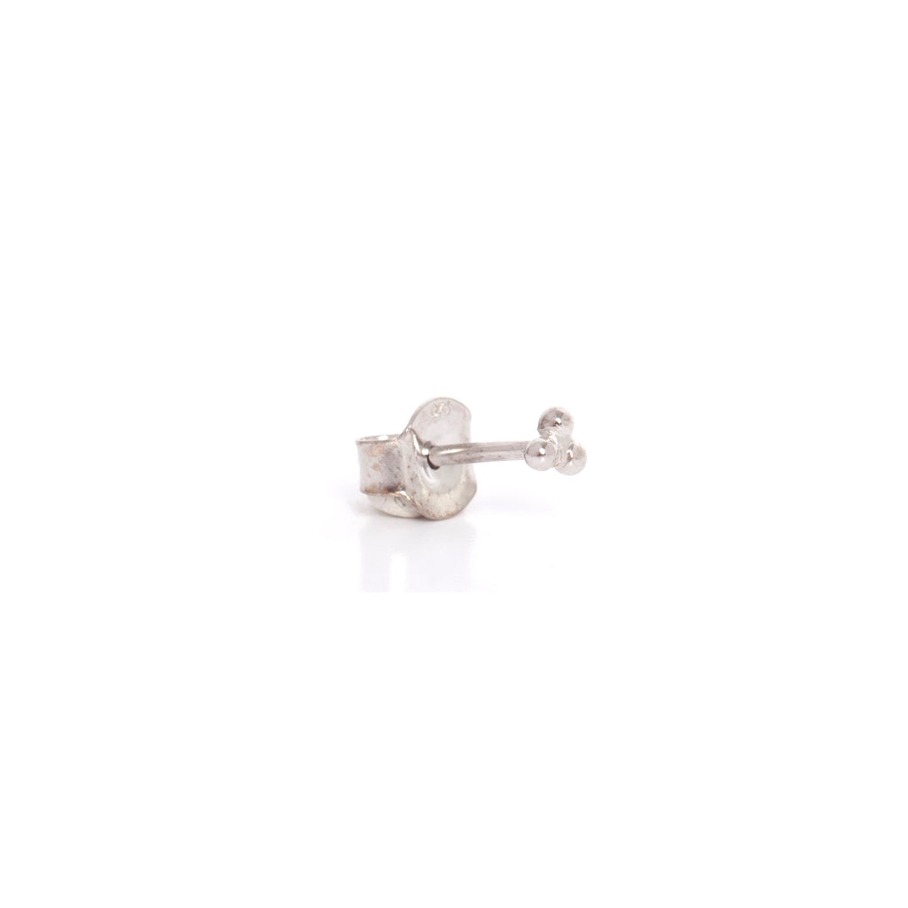 White Gold Triple Studs