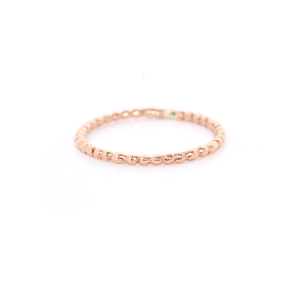 Rose Gold Ball Ring