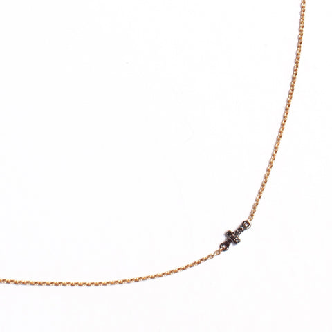 Black Diamond Cross Chain Necklace