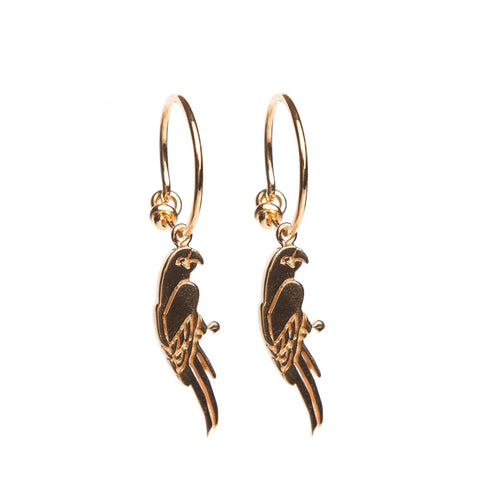 Parrot Hoop Earrings