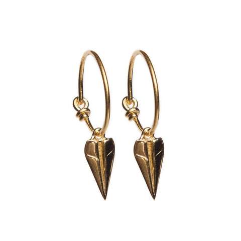 Paper Aeroplane Hoop Earrings