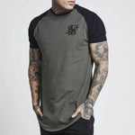 Colorblock Raglan Sleeve Sports T Shirt