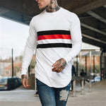 Colorblock Long Sleeve Sports T-shirt