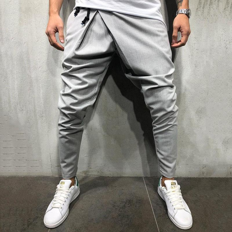 Casual Drawstring Side Pockets Pants