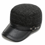 Casual Stripe Ear Protective Cover Buckle Man Flat Hat