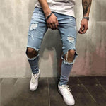 Fashion Ripped Hole Jeans Denim Pants