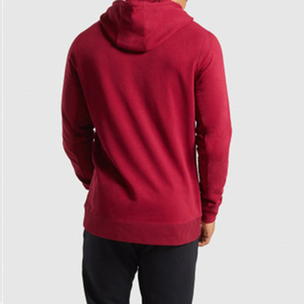 Gymshark Letter Jacquard Paneled Ribbed Drawstring Fitness Hoodie