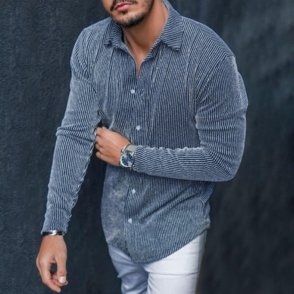 Casual Stripe Long Sleeve Shirt