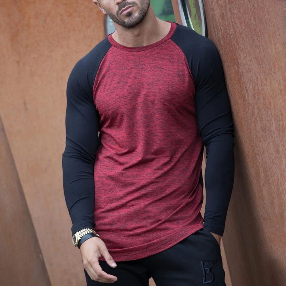 Colorblock Raglan Sleeve T Shirt