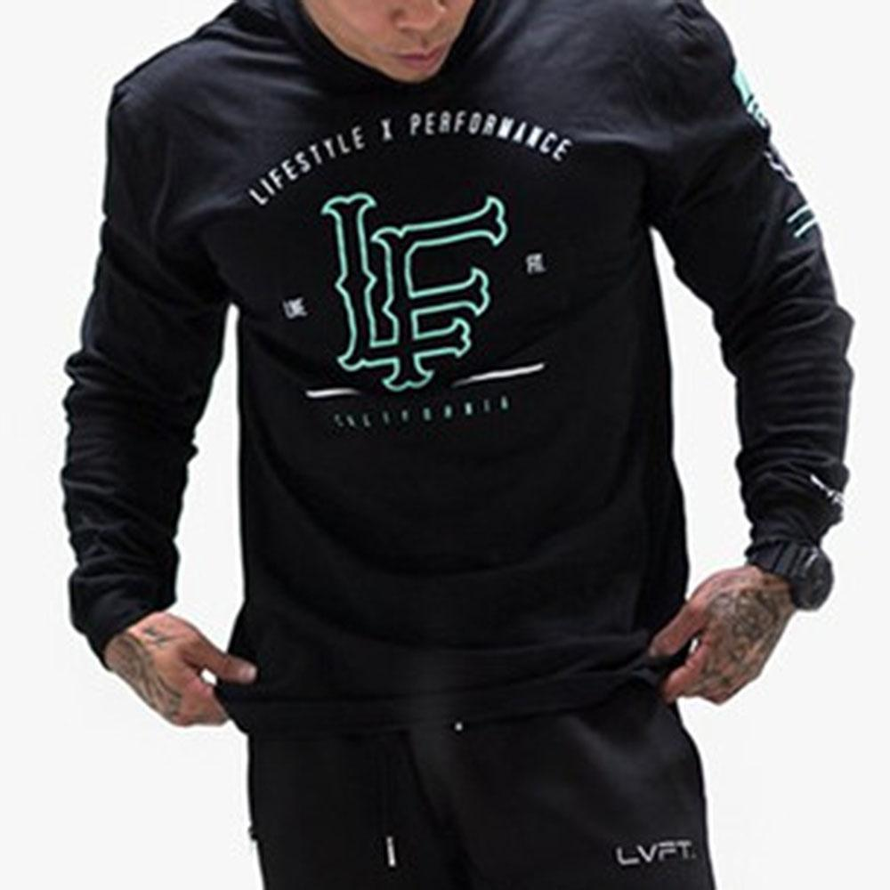 Letter Long Sleeve Sports T Shirt