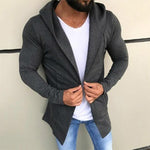 Fashion Solid Hooded Cardigan