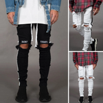 Solid Tie Dyeing Zipper Jeans